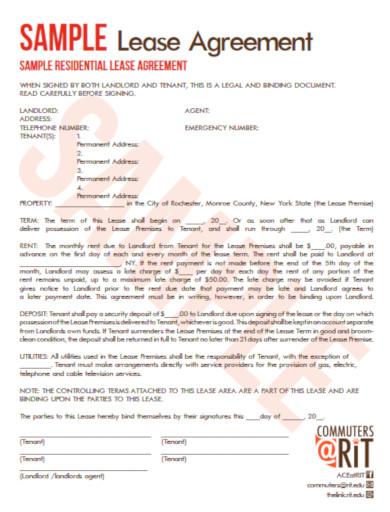 tenant rental agreement example