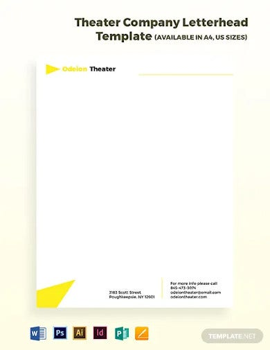 theater company letterhead template