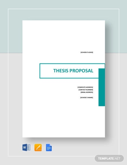 thesis proposal template
