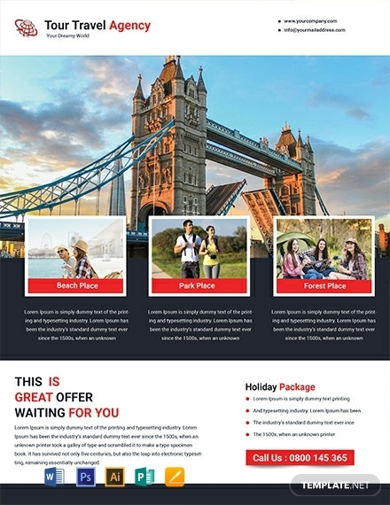 tour travel agency flyer format