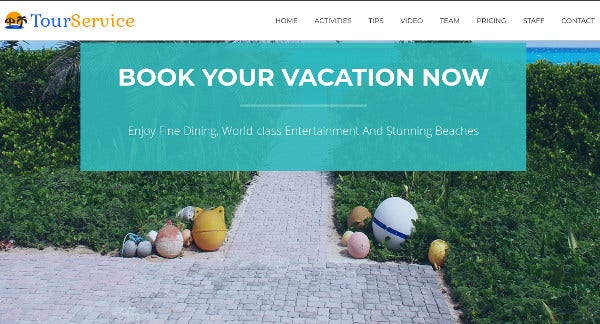 tourservice – full screen image wordpress theme