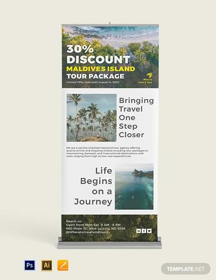 tourism marketing roll up banner design