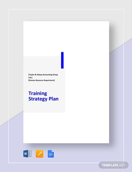 training strategy plan template