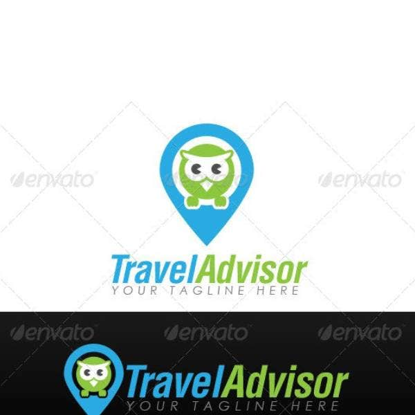 travel advisor company logo template 1