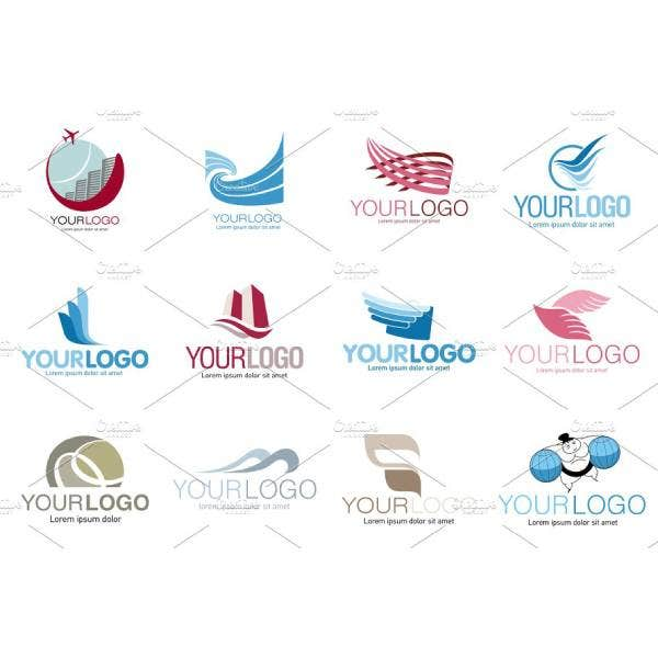 travel agencies set logo samples 1