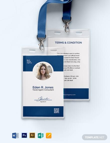 travel agency employee id card