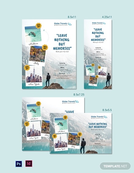 travel agency magazine ads template