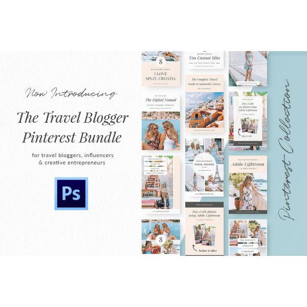 travel blog pinterest kit template