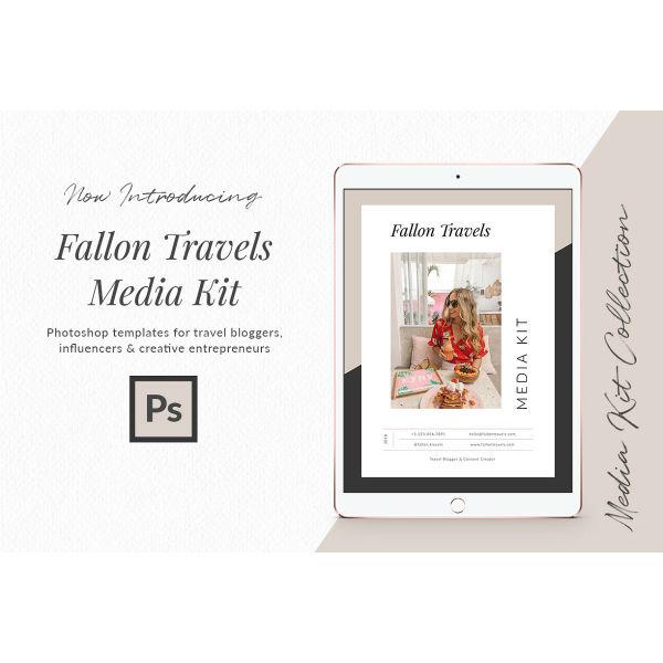 travel blogger media kit template