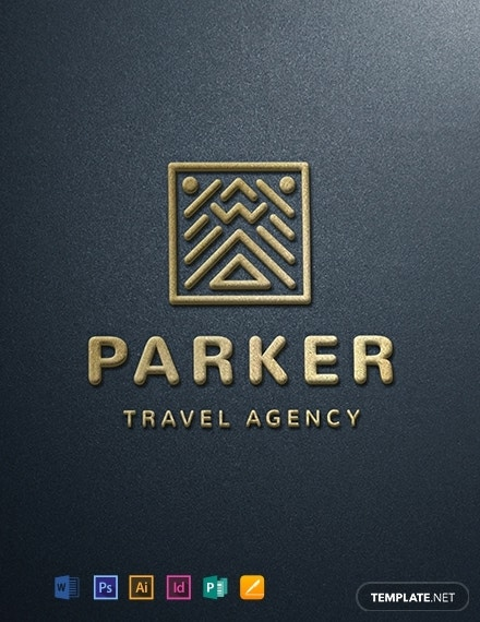 travel company logo design template