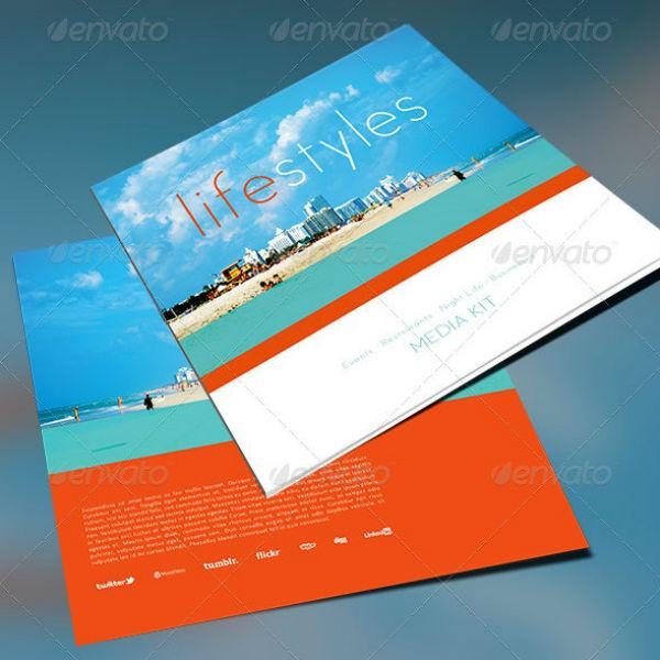 travel magazine media kit booklet template