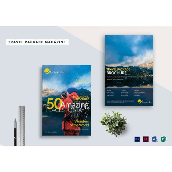 travel package ad magazine sample