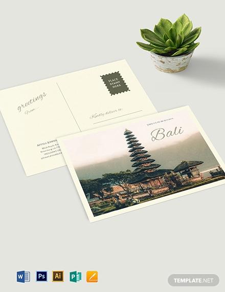 travel postcard template 1