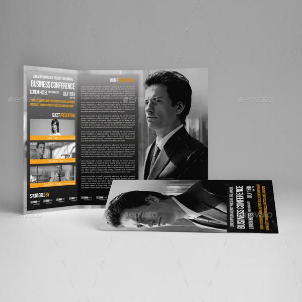 Tri-Fold Business Event Brochure Design