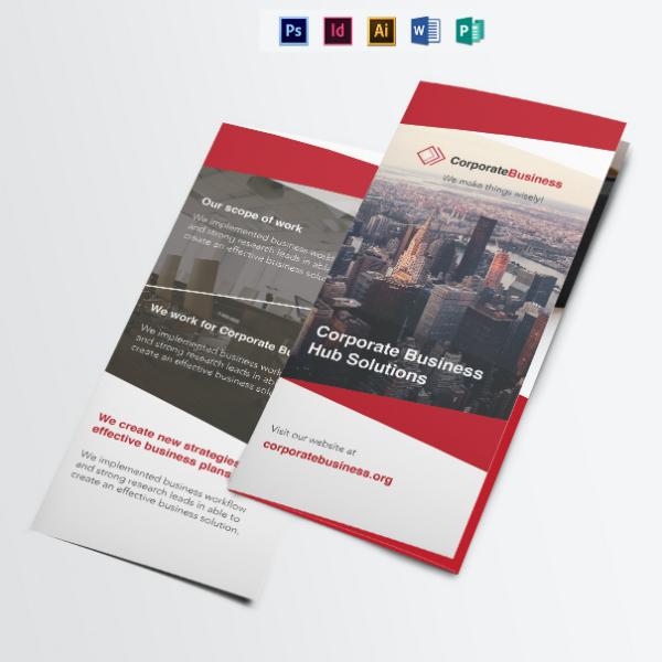 tri fold corporate event brochure sample