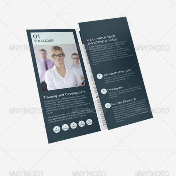 Tri-Fold Recruiting Services Brochure Sample