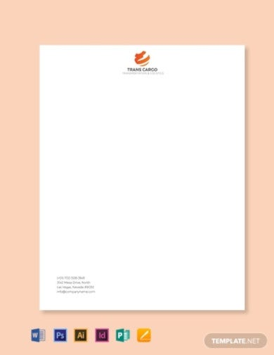 trucking company letterhead template1