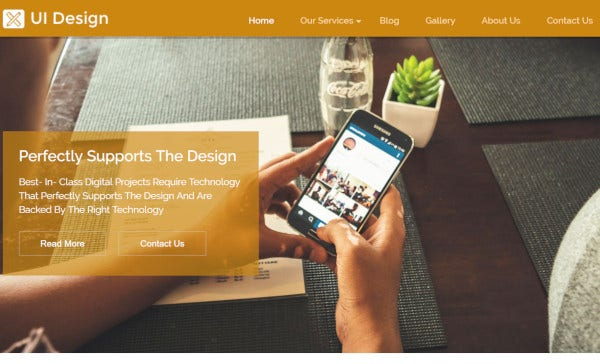 ui design mobile responsive wordpress theme