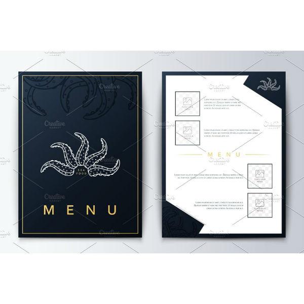 unique culinary menu template