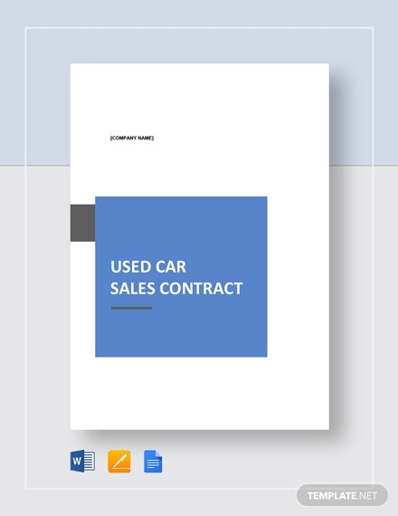 used car sales contract