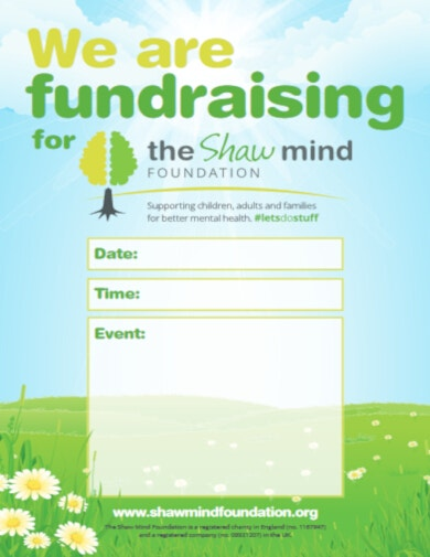 vertical fundraising poster template