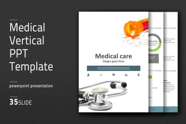 vertical medical powerpoint template