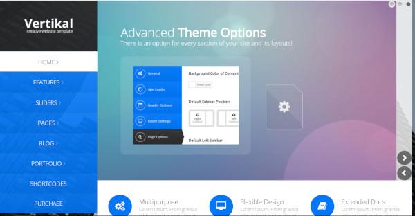 Vertikal - Ajax Navigation WordPress Theme