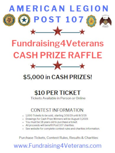 veteran fundraiser raffle flyer template