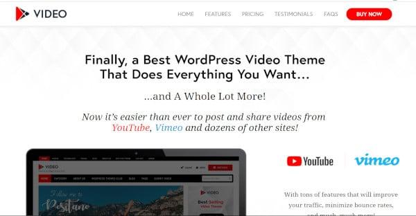 video – user friendly wordpress theme