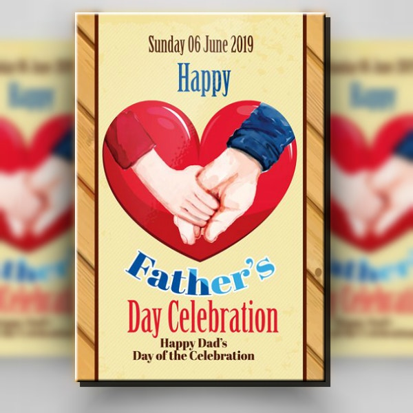 Vintage Father's Day Heart Poster