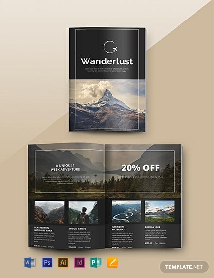 wanderlust travel agency catalog design