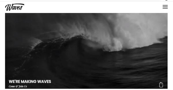 waves html5 and css3 wordpress theme