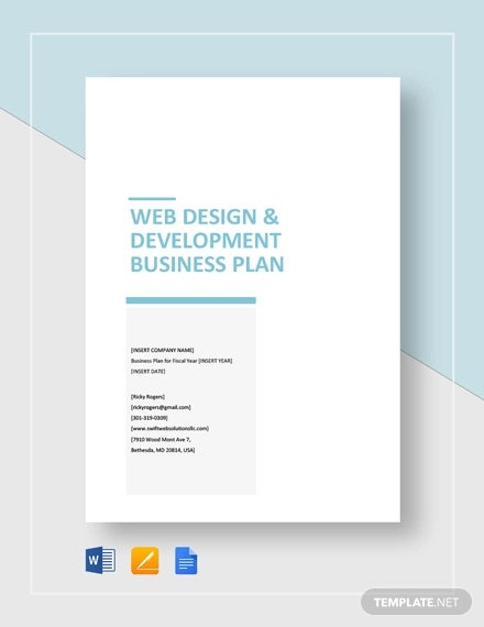web design development business plan template