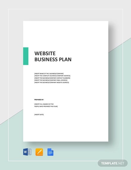 website business plan template