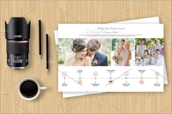 wedding day photography schedule template