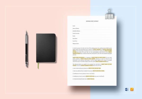 wedding-event-contract-template
