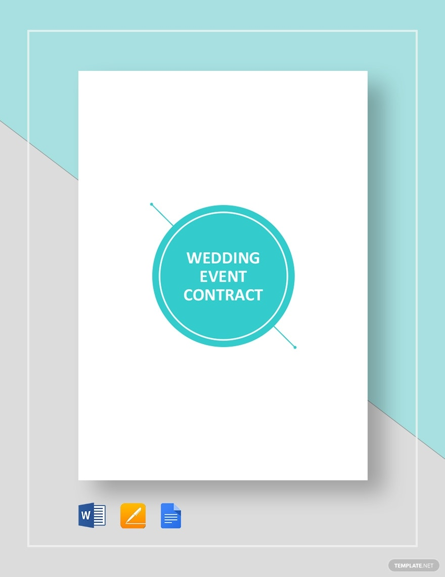 wedding event contract template1