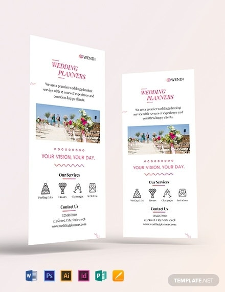 wedding planner rack card template