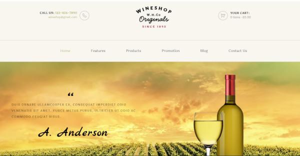 wineshop 4 premade homepages wordpress theme