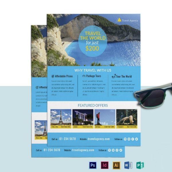world travel agency flyer example
