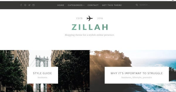zillah seo friendly wordpress theme