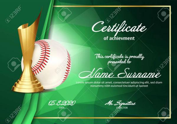 baseball cert
