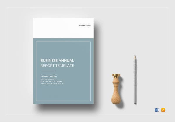 business annual report template mockup