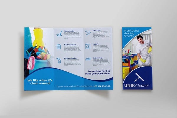 cleaning services tri fold brochure