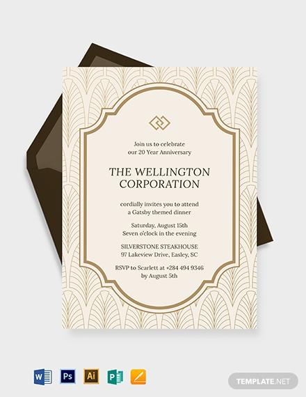 company anniversary invitation template