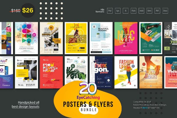 eye catching flyers posters design word phosothop indesign templates