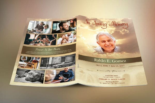 forever funeral program template preview