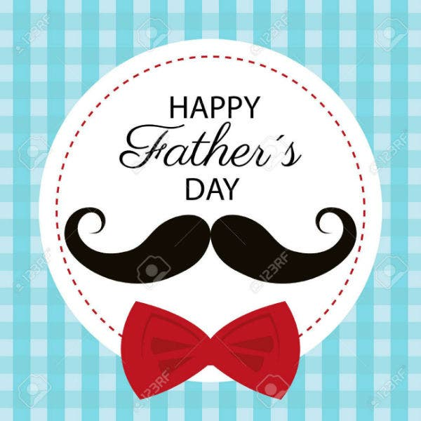 happy fathers day card design vector illustration