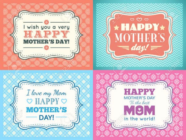 happy mothers day card set typography letter font type editable for happy birthday party invitation