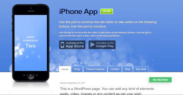 iPhone – plugin ready WordPress Theme